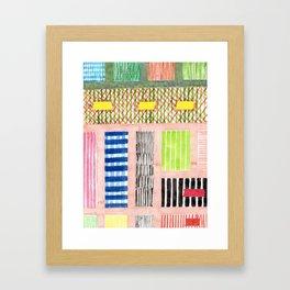 Friendly Pattern Mix On Pink Framed Art Print