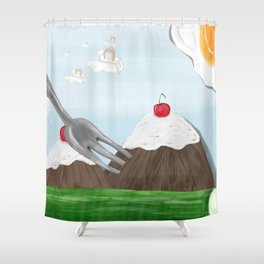 Eat Your Heart Out Shower Curtain