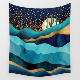 Indigo Desert Night Wall Tapestry
