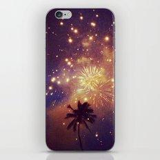 Palm tree fireworks iPhone & iPod Skin