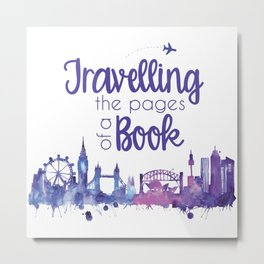 Travelling the Pages Metal Print