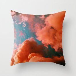 The Pink Clouds (Color) Throw Pillow