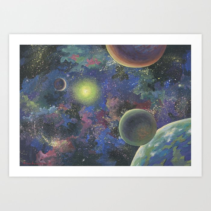 Galaxy. Order in chaos. Art Print