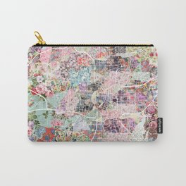 San Antonio map flowers Carry-All Pouch
