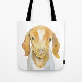Nubian Goat Head Watercolor Tote Bag