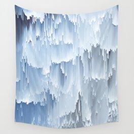 Waterfall glitch Wall Tapestry