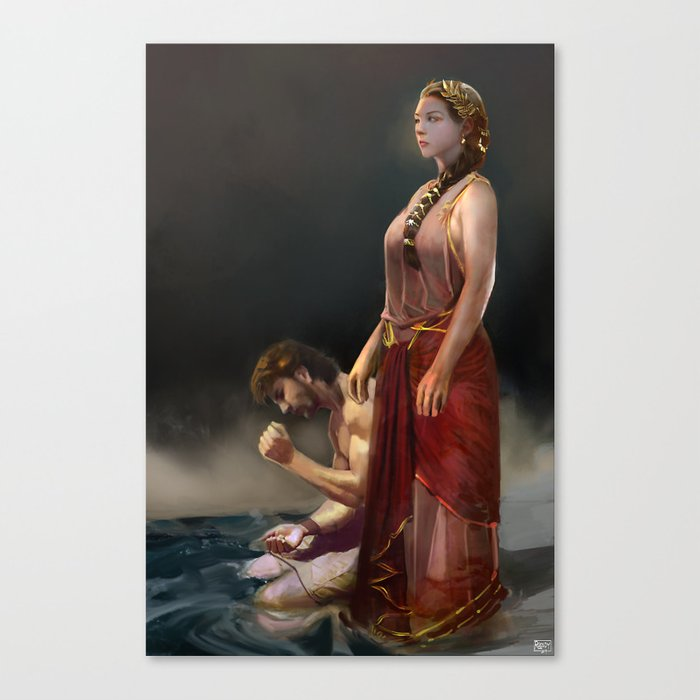 "Calypso(""Charm of of the Ancient Enchantress"" Series) Canvas Print"
