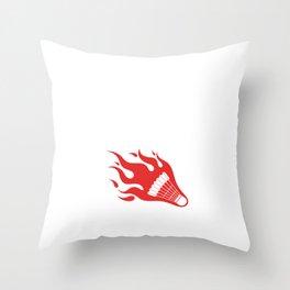 Not a Pro Just Love It Badminton Lover T-Shirt Throw Pillow