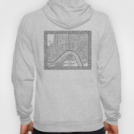 Vintage Map of New Orleans (1880) BW Hoody