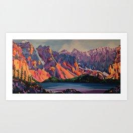 Morraine Lake Art Print