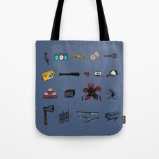 It's Blue in the Upside Down Tote Bag
