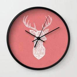 I LOVE YOU DEER - PINK Wall Clock