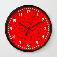 canada Wall Clocks featuring Canada by ts55