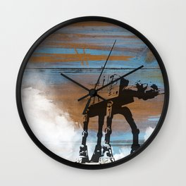 Blue Hoth Wall Clock
