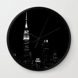 New Yorker B&W Wall Clock