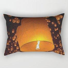 Lantern Fly Rectangular Pillow