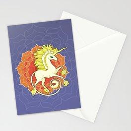 Vendel Unicorn - the sun Stationery Cards
