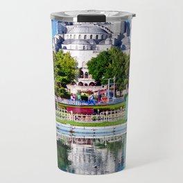 Blue mosque mandala Travel Mug