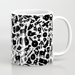 Alphabet Compendium Letter Silhouette Pattern Coffee Mug