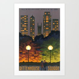 Rittenhouse Square Art Print