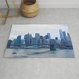 Lower Manhattan skyline Rug