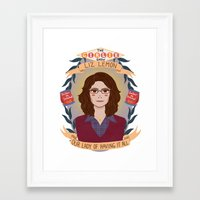 liz lemon Framed Art Prints featuring Liz Lemon by heymonster