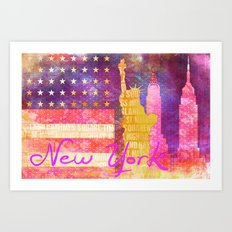 New York USA Statue of Liberty Art Print