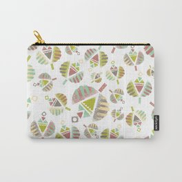 Abstract Retro Flowers Carry-All Pouch