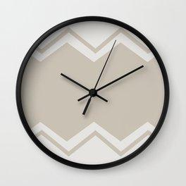 Beige-Chevron Wall Clock