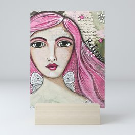 Believe in Your Own Magic Mixed Media Fairy Girl Mini Art Print