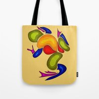 frog Tote Bags featuring Frog by Aleksandra Mikolajczak