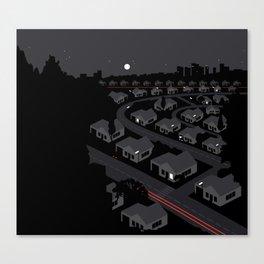 Sub-Urban Night Canvas Print