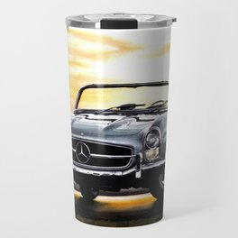 CLASSIC SL300 ROADSTER IN SILVER DURING SUNSET Travel Mug