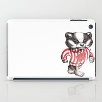 bucky iPad Cases featuring Bucky Don't Care by Julia Sonmi Heglund