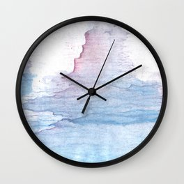 Lavender colorful wash drawing Wall Clock