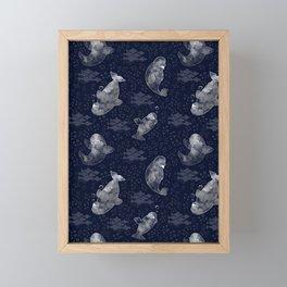 Beluga Whale Framed Mini Art Print