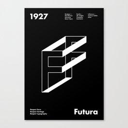 Sans Serif Vol. ¹ – Futura Canvas Print