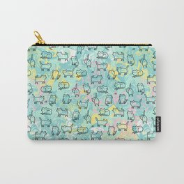 Marble Kitty Cats Carry-All Pouch