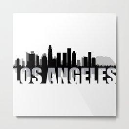 Los Angeles Silhouette Skyline Metal Print