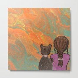 Kitty and me Metal Print