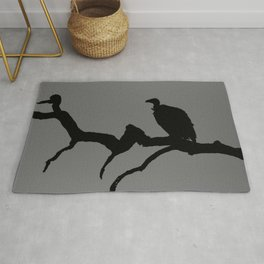Vulture silhouette Rug