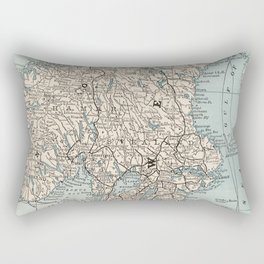 Vintage Map of Norway and Sweden (1893) Rectangular Pillow