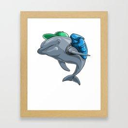 Dolphin Back to School Kids Pre-School Elementary Framed Art Print