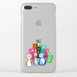 Gang of cats Clear iPhone Case