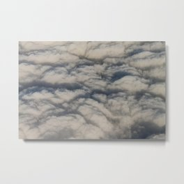 Beautiful cloudscape high up in the sky. Metal Print