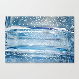 Air bubbles in bottle of water Canvas Print