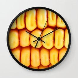 Fresh corn background Wall Clock