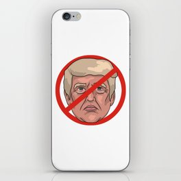 Donald Trump No Road Sign Illustration iPhone Skin