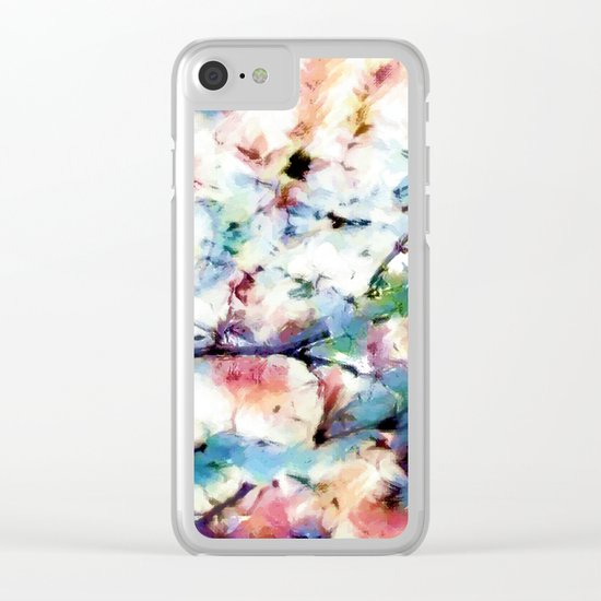 Print in watercoloring style, retro colors, illustration Clear iPhone Case