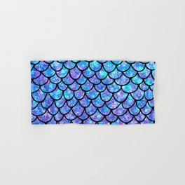 Purples & Blues Mermaid scales Hand & Bath Towel